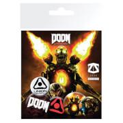 Lot de Badge Doom