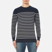Barbour Men's Current Stripe Crew Neck Knitted Jumper - Navy