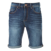 Threadbare Men's Denim Shorts - Mid Wash