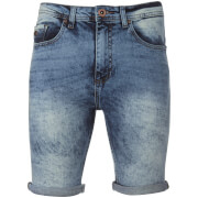 Short en Jean Threadbare -Light Wash