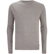 Threadbare Men's Sanders Textured Knit Jumper - Light Grey Marl