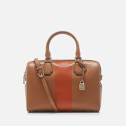 MICHAEL MICHAEL KORS Women's Centre Stripe Mercer Medium Duffle Bag - Acorn/Orange