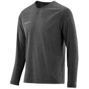 Skins Plus Men's Micron Long Sleeve Top - Black/Marle