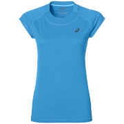 Asics Women's Cap Sleeve Run T-Shirt - Diva Blue Heather
