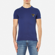 Versace Jeans Men's Small Logo Basic T-Shirt - Blu Di Chino
