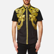 Versace Jeans Men's Short Sleeve Shoulder Print Shirt - Nero