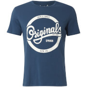 Jack & Jones Originals Men's Swell Logo T-Shirt - Dark Denim