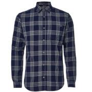 Jack & Jones Originals Larson Geruit Shirt - Blauw