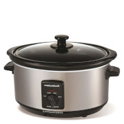 Morphy Richards 48709 Slow Cooker 3.5L - Stainless Steel