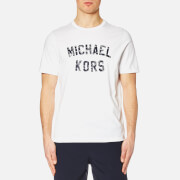 Michael Kors Men's Varsity Text Graphic Michael Kors Logo T-Shirt - White