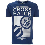 Crosshatch Herren Kilo Textured T-Shirt - Estate Blue