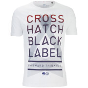 T-Shirt Homme Penn Black Label Crosshatch -Blanc