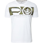 Crosshatch Men's Pleione Camo T-Shirt - White