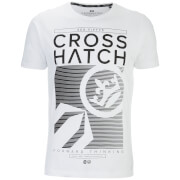 Crosshatch Herren Kilo Textured T-Shirt - White