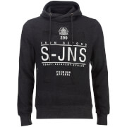 Sweatshirt à Capuche Electronite Col Croix Smith & Jones -Gris Charbon