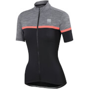 Sportful Women's Giara Jersey - Black/Anthracite/Coral Fluo
