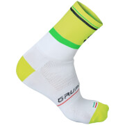 Sportful Gruppetto Pro 12 Socks - White/Yellow/Green