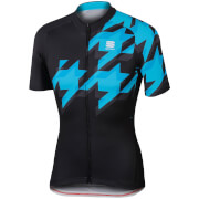 Sportful Fuga Short Sleeve Jersey - Black/Blue