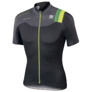 Sportful BodyFit Pro Team Short Sleeve Jersey - Black/Grey/Yellow