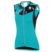 Sportful Women's Primavera Sleeveless Jersey - Turquoise/Black
