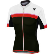 Sportful Pista Short Sleeve Jersey - White/Black/Red