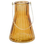 Broste Copenhagen 'Emil' Glass Lantern - Gold