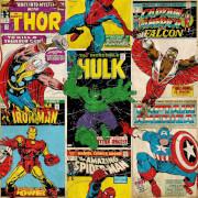 Marvel Avengers Breakout Retro Wallpaper