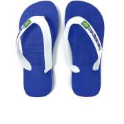 Havaianas Kids' Brasil Logo Flip Flops - Marine Blue