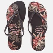 Havaianas Women's Organic Slim Flip Flops - Black