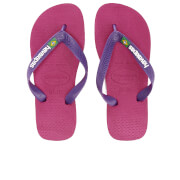 Havaianas Kids' Brasil Logo Flip Flops - Raspberry Rose/New Purple