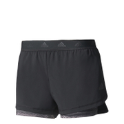 adidas Women's 2-in-1 Shorts - Black