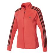 adidas Women's D2M 3 Stripe Track Top - Core Pink
