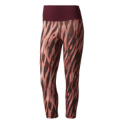 adidas Women's 3/4 Tights - Print/Maroon
