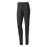 adidas Women's D2M 3 Stripe Cuff Jogging Pants - Black/White