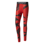 adidas Men's TechFit Climachill Graphic Tights - Scarlet