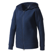 adidas Women's ZNE Travel Hoody - Storm Heather/Navy