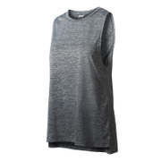 adidas Women's Boxy Melange Tank Top - Grey/Black