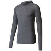 adidas Men's Primeknit Wool Hooded Long Sleeve Running Top - Utility Black