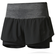 adidas Women's Ultra Energy Running Shorts - Black