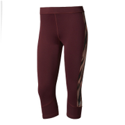 adidas Women's TechFit Capri Tights - Maroon/Print