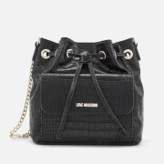 Love Moschino Women's Croc Bucket Bag - Black