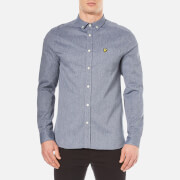 Lyle & Scott Men's Twill Mouline Long Sleeve Shirt - Navy