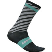 Castelli Free Kit 13 Socks - Anthracite/Pale Blue
