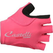 Castelli Women's Rosso Corsa Pave Gloves - Raspberry/Pale Blue