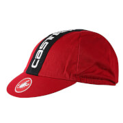 Castelli Retro 3 Cycling Cap - Ruby Red/Black - One Size