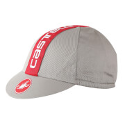 Castelli Retro 3 Cycling Cap - Luna Grey/Red - One Size