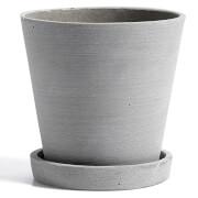 HAY Flowerpot with Saucer - Medium - Grey