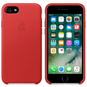 Apple iPhone 7 Leather Case - Red