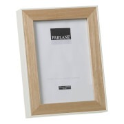 Parlane Oundle Wooden Frame - Natural/White (22 x 17cm)