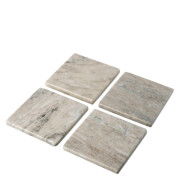Parlane Set of 4 Square Marble Coasters - Beige (10cm)
